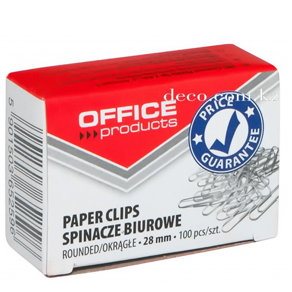 Скрепки OFFICE products, 28мм